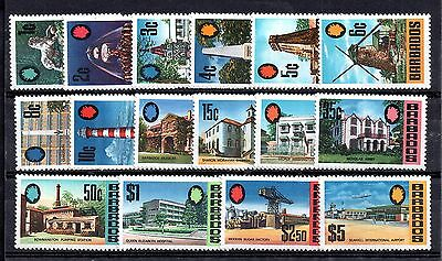 Barbados 1970 Pictorial mint MNH set SG399-414 WS4920