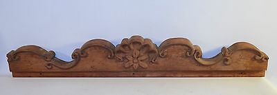 Antique Vintage Wood Ornamental Over Furniture Mirror Door Top Salvage Part