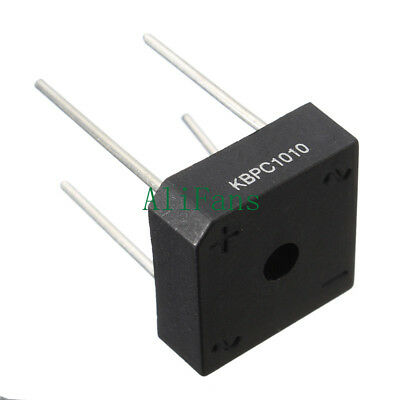 2Pcs NEW Bridge Rectifier KBPC1010 KBPC-1010 10A 1000V