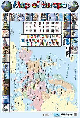 A2 Map of Europe Poster / educational / learning / geography