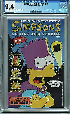 Simpsons Comics and Stories #1 CGC 9.4 NM looks 9.6/9.8 Welsh 1993 1st Simpsons