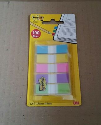 NEU - 3M - Post-it - Index Haftstreifen - Haftmarker 5x20 im Spender