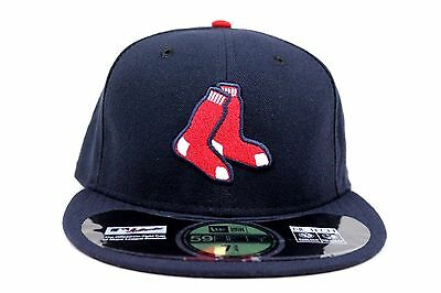 Boston Red Sox Navy Blue Alt NE Tech On-Field MLB New Era 59Fifty Fitted Hat Cap