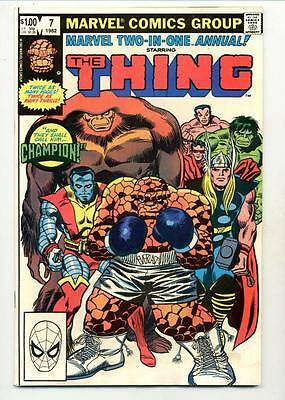 Marvel Two in One Annual #7   The Thing    Thor    Hulk