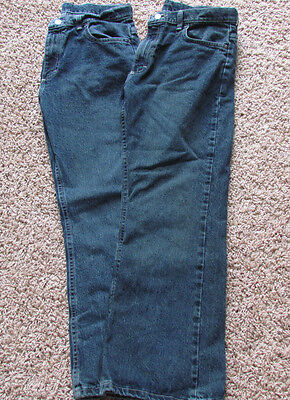Wrangler Boys Size 16 Husky Jeans 👖 With Adjustable Waist * 2 Pairs * EXC. COND