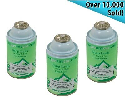Car Aircon Air Con Air Conditioning Leak Stopper Leakstopper 3 x Gas Can Pack