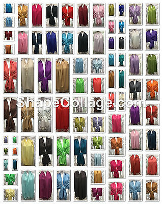 Wholesale Lot 42Pcs $3.00 Each Plain Solid Pashmina Cashmere Scarf Shawl Wrap