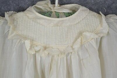 baby dress white cotton lace Christening  infant very long antique original 1800