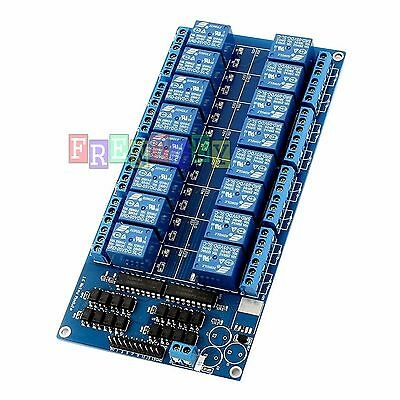 New 16-Channel 5V Relay Shield Module with optocoupler For Arduino ARM PIC