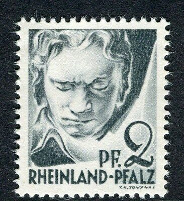 GERMANY ALLIED OCC RHINELAND 1947 early issue Mint MNH Unmounted 2pf.