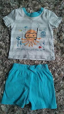 baby boys shorts and t-shirt set 3-6 months