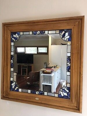 Country style mirror with leadlight surround