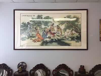 Very Large Chinese Painting, Listed Artist.