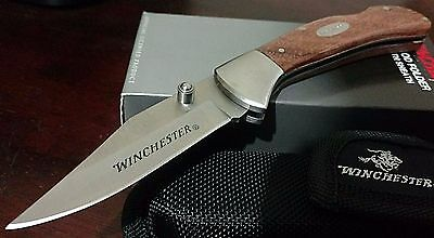 Winchester Lockback Hunting Pocket Knife W/ Sheath Case !!!