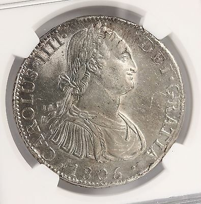 1805 MO TH Mexico 8R NGC Certified AU58 Beautiful Original Luster Mexican Silver