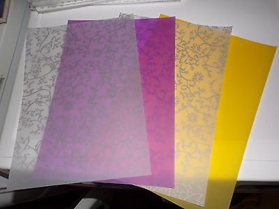 4 X Vellum Sheets In Different Styles   29X21 Cm New New (Vs54)