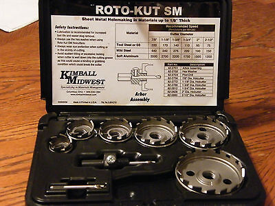 Kimball Midwest SHEET METAL HOLE CUTTERS DRILL BIT HOLE SAW KIT JUMBO MADE IN US