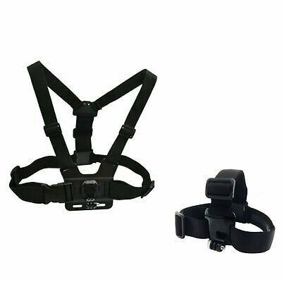 Adjustable Chest Harness, Head Strap Mount for GoPro HERO5,4,3+,3,2,1 Cameras