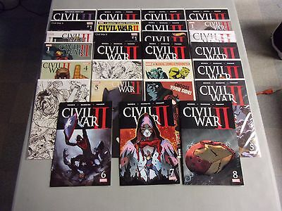 CIVIL WAR II COMPLETE #FCBD 0 1 2 3 4 5 6 7 8 Set With Variants (30 Comic Set)
