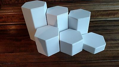 Display and Fixture Leatherette Risers Set Display Stand, used