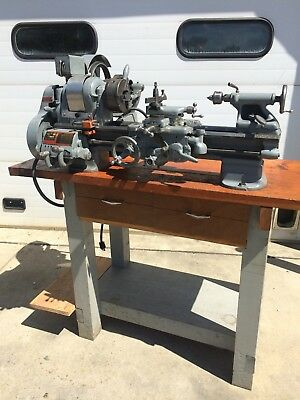 "South Bend 9""x24"" Metal Lathe 1958 CL8644Y 110 Volt 3&4 Jaw Tool post Tooling"