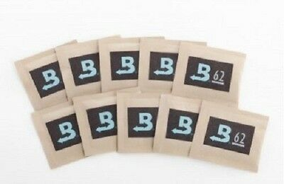 10 Pack Boveda RH 62% 8 gram Humidity 2 Way Control Humidor packets
