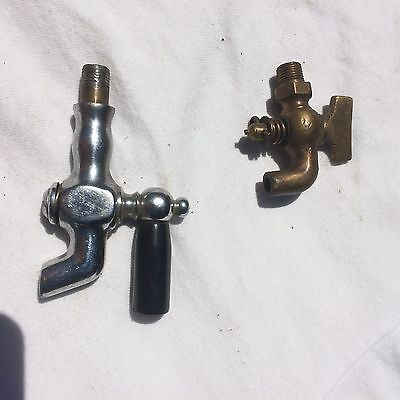 Spout type petcocks, brass, made in USA