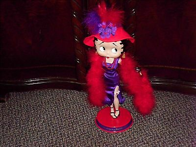 Very Rare Beautiful  BETTY BOOP  Porcelain  RED HAT LADY  Doll