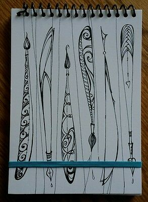 """Journal Notepad Notebook 80 Lined Sheets 5"""" x 7"""" ~ U Color Decorate Paint"""