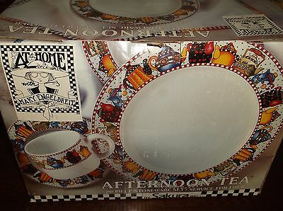 Mary Engelbreit AFTERNOON TEA Set Of Dishes By Sakura New In Box Service For 4