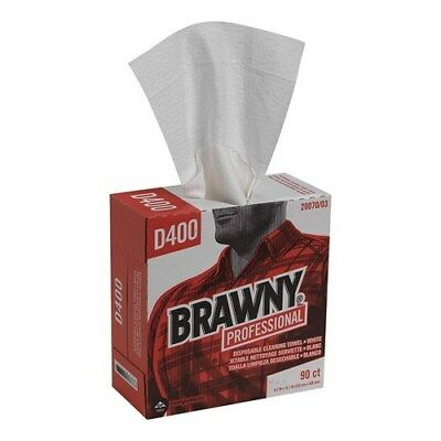 Blasts Nastiest Crap. GPC2007003 D400 Pro Brawny Cleaning Towels, White (900/cs)