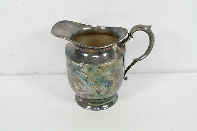 Vintage Poole Silver Co Silverplate Water Pitcher