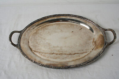 Rogers & Brothers Silverplated Handled Oval Serving Tray