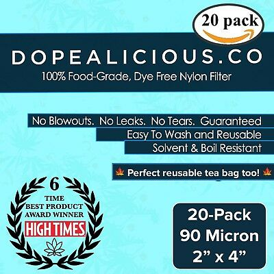 "90 Micron Rosin Press Filter Bags | 2"" x 4"" 