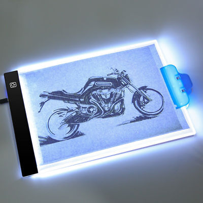 A4 LED Ultra Slim Art Craft Tracing Drawing Animation Light Box Pad Board Lamp