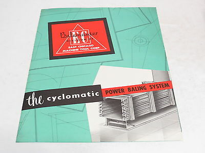 * Vintage Balemaster The Cyclomatic Power Baling System Brochure *