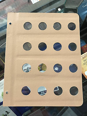 Brand New DANSCO Supreme Coin Page Blank Empty 12 Port 30mm Suit 20c 2/- Florin