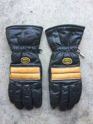 Vintage Bates Black Leather Gloves, Motorcycle