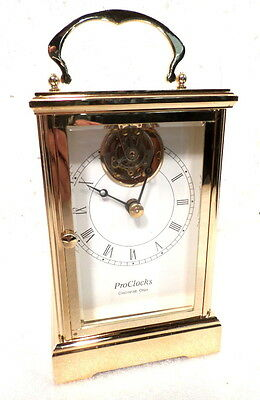 Fantastic Authentic Tourbillon Gold Plated Carriage Clock--Reduced Price