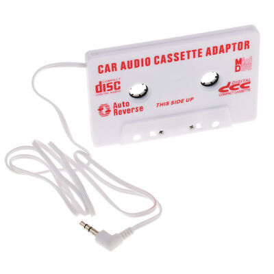 3.5mm AUX Car Audio Cassette Tape White Adapter Transmitters for MP3 CD PDA