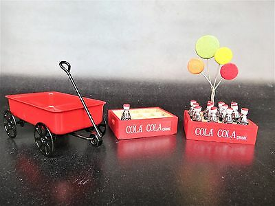 Toy Coke Cases, TIn Wagon and Ballons