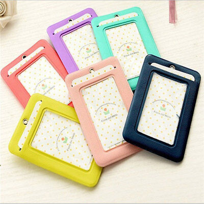 Credit ID Card Cover Badge Lanyard Holder - Women Girl Neck Travel Cards Wallet