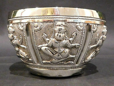 Anglo Indian Solid Silver Bowl. Madras, 1890s.  60 Grams