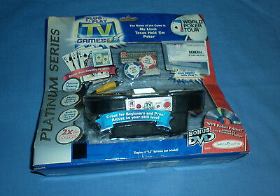 World Poker Tour Plug & Play TV Games Texas Hold em JAKKS PACIFIC NEW & UNOPENED