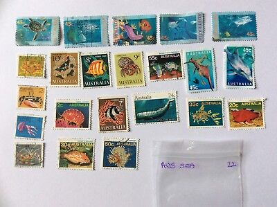 Australian stamps x22 SEA CREATURES