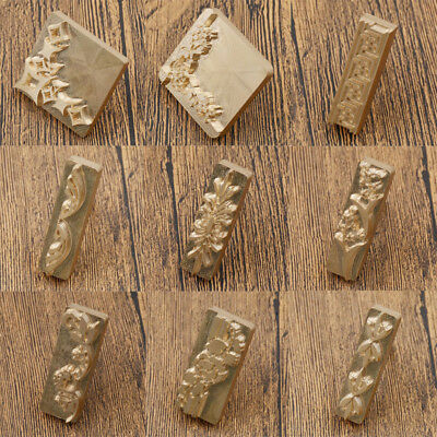 Brass DIY Custom Made Flower Leather Stamp Logo Carving Tool Seal Handmade Mold