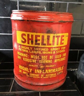 Vintage shell oil tin aud picclick au for Motor oil by the drum