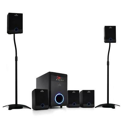 5.1 Surround Sound Home Cinema Speaker System 95W Rms With Rear Speaker Stands