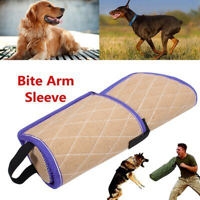 Canvas Dog Bite Sleeve Arm Protection Obedience Training For Young Police Pet