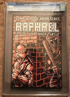 Raphael (1985 Teenage Mutant Ninja Turtles) #1 CGC 8.5 TMNT 1st Casey Jones
